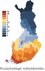 Finländsk blogglista enligt zoner